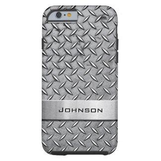 Cool Premium Diamond Cut Metallic Plate Pattern Tough iPhone 6 Case
