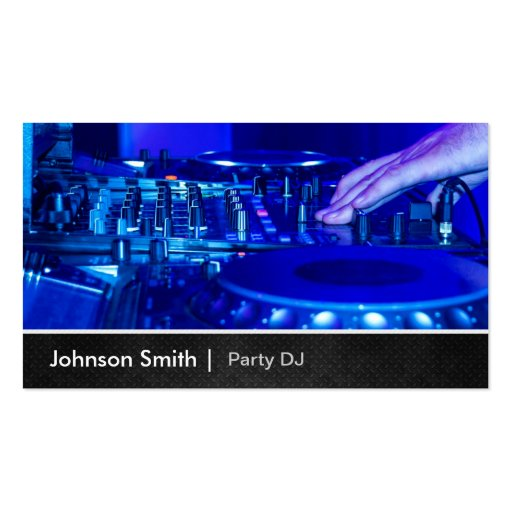 Cool Premium Metal - Turntable Scratching Music Dj Business Card Template