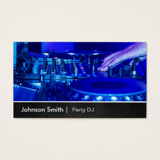 Cool Premium Metal - Turntable Scratching Music Dj Business Card