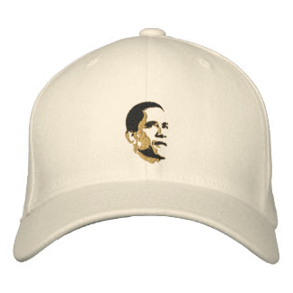 Cool President Obama Pop Art Gold Cap Embroidered Baseball Cap