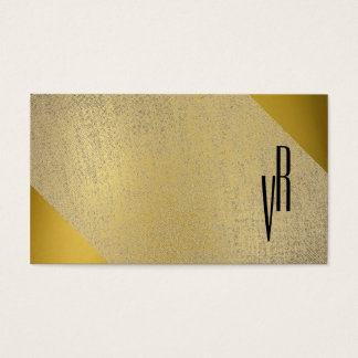 Cool Professional Monogram Simple Modern Elegant Business Card
