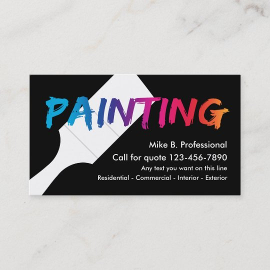cool professional painter business card - Painting Business Cards