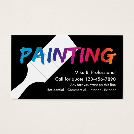 Cool professional painter business card zazzle cool professional painter business card reheart Images