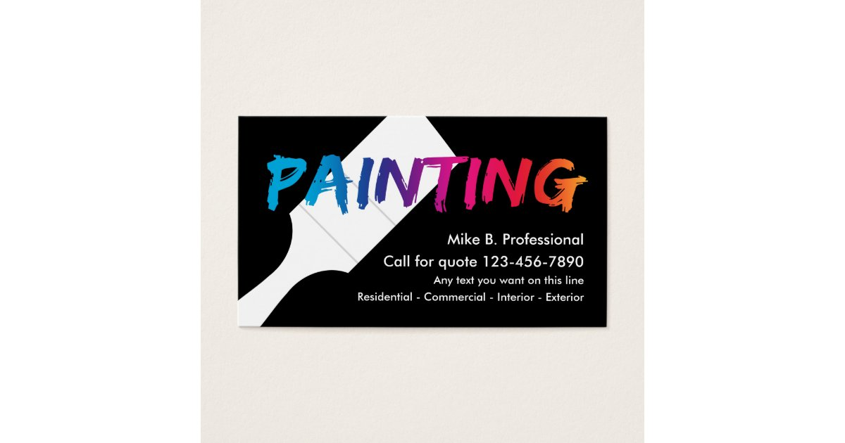 Professional Painter Business Cards & Templates | Zazzle