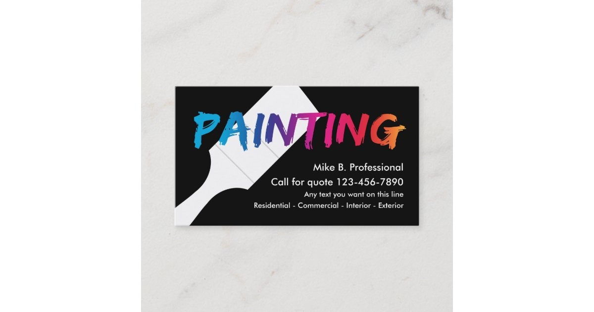 Cool Professional Painter Business Card Zazzle Com,400 Square Feet House In Kerala