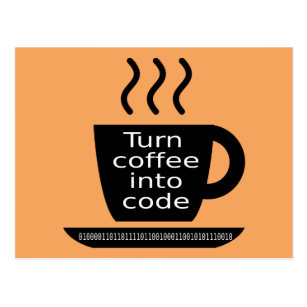 Geek cards greeting photo cards zazzle cool programmer geek coffee addiction postcard bookmarktalkfo Images