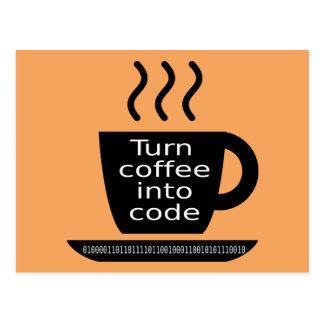 Cool Programmer Geek Coffee Addiction Postcard