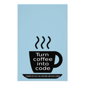 Cool Programmer Geek Coffee Addiction Custom Stationery