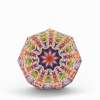 Cool Psychedelic Pastel Mandala Shaped Award