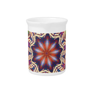 Cool Psychedelic Pastel Mandala Shaped Drink Pitchers