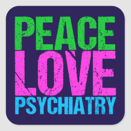 Cool Psychiatrist Square Sticker
