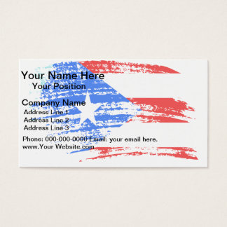 Cool Puerto Rican flag design Business Card