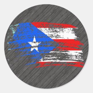 Cool Puerto Rican flag design Classic Round Sticker