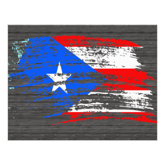 Cool Puerto Rican flag design Flyers