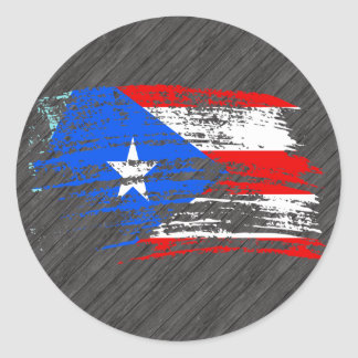 Cool Puerto Rican flag design Round Stickers