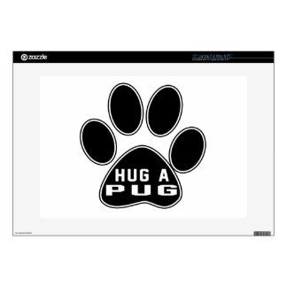 "Cool Pug Designs Decal For 15"" Laptop"