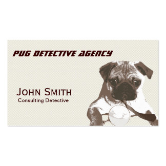 Cool Pug Detective Agency Business Card