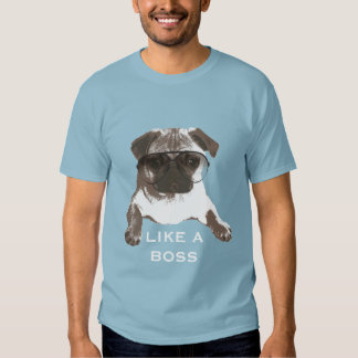 Cool Pug Like A Boss T-Shirt