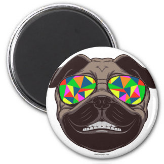 Cool Pug with Psychedelic Sunglasses Magnet
