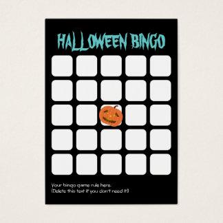 Cool Pumpkin Dark 5x5 Halloween Party Bingo Card