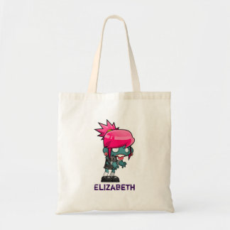 Cool Punk Rock Zombie Girl Personalized Tote Bag