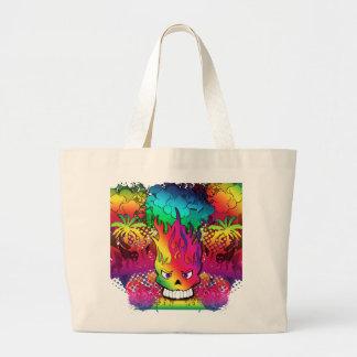 Cool Punk Skull Graffiti Grunge Design Bag