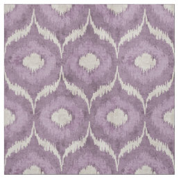 Cool purple and cream ikat tribal pattern fabric