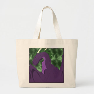 Cool Purple And Green Dragon Canvas Bags