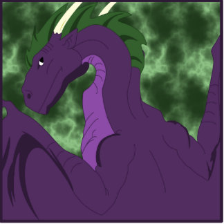 Cool Purple And Green Dragon Cutout