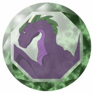 Cool Purple And Green Dragon Gem Statuette