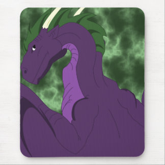 Cool Purple And Green Dragon Mouse Pad