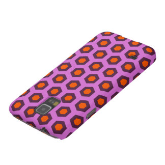 Cool purple and orange hexagon pattern galaxy s5 covers