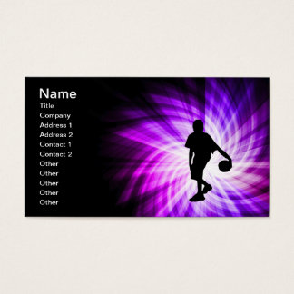 Cool Purple Basketball Business Card