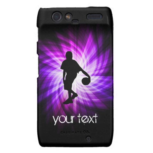 Cool Purple Basketball Droid RAZR Covers