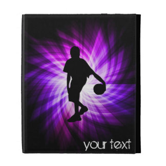 Cool Purple Basketball iPad Folio Covers