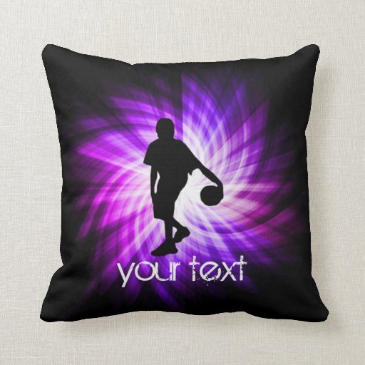 Cool purple basketball throw pillow zazzle for Cool couch pillows