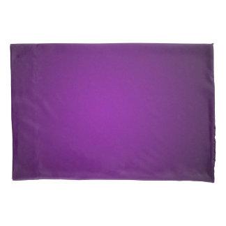 Cool Purple-Black Grainy Vignette Pillow Case