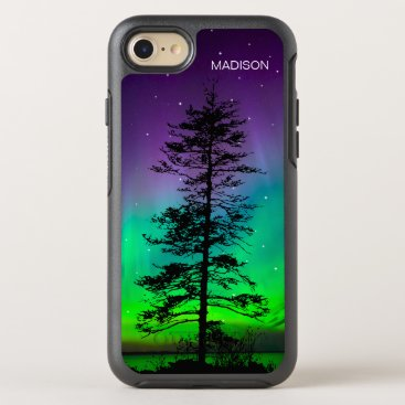 Beach Themed Cool Purple Blue Galaxy Stars Redwood Tree OtterBox Symmetry iPhone 7 Case