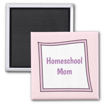 Beach Themed Cool Purple Box with Homeschool Mom Magnet