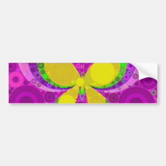 Cool Purple Butterfly Concentric Circles Mosaic Bumper Sticker
