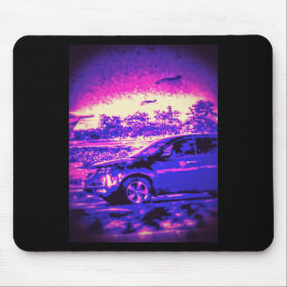 COOL PURPLE CAR MOUSE PAD