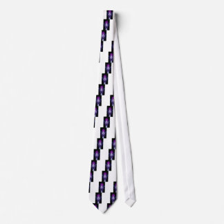 Cool purple character for people of all ages tie