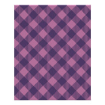 Cool Purple Check Gingham Pattern Flyer