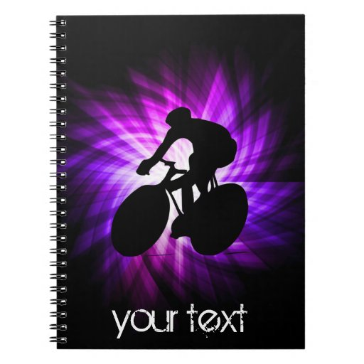 Cool Purple Cycling Note Book