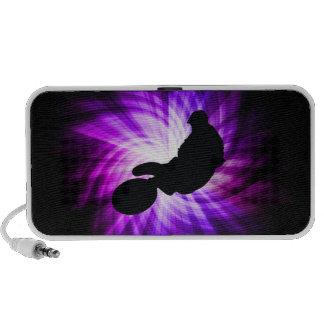 Cool Purple Dirt Bike iPhone Speakers