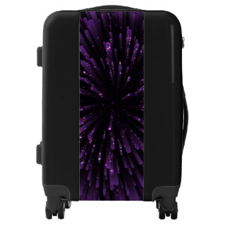 Cool purple Explosion Design Luggage