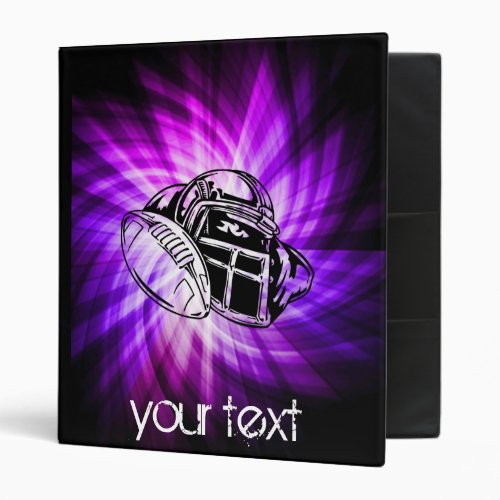 Cool Purple Football 3 Ring Binder