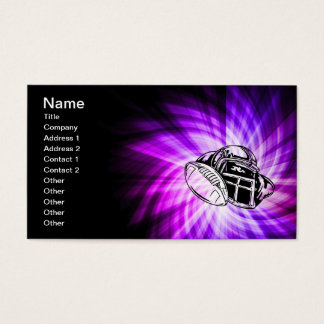 Cool Purple Football Business Card