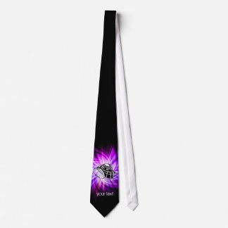 Cool Purple Football Neck Tie