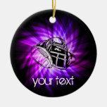 Cool Purple Football Ornament